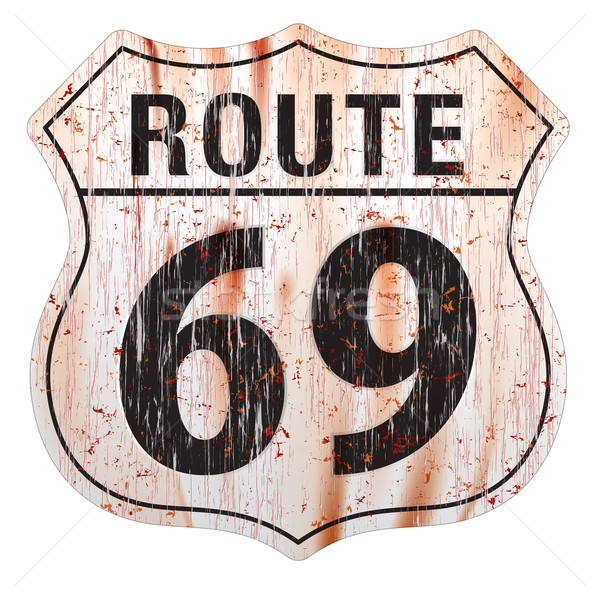 маршрут шестьдесят девять Гранж знак Сток-фото © CarpathianPrince
