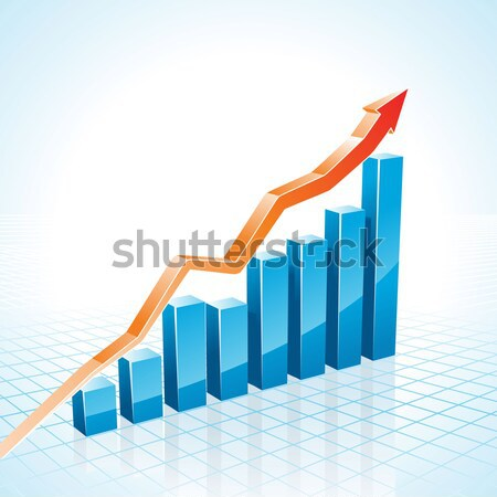 vector 3d Stock Market Bar Graph Stock photo © CarpathianPrince