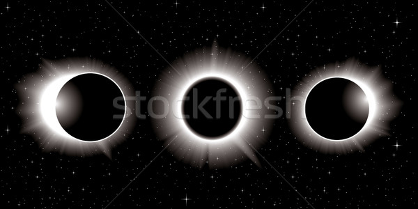 Solaire eclipse illustration trois ciel soleil Photo stock © CarpathianPrince