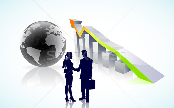 vector global business success  Stock photo © CarpathianPrince