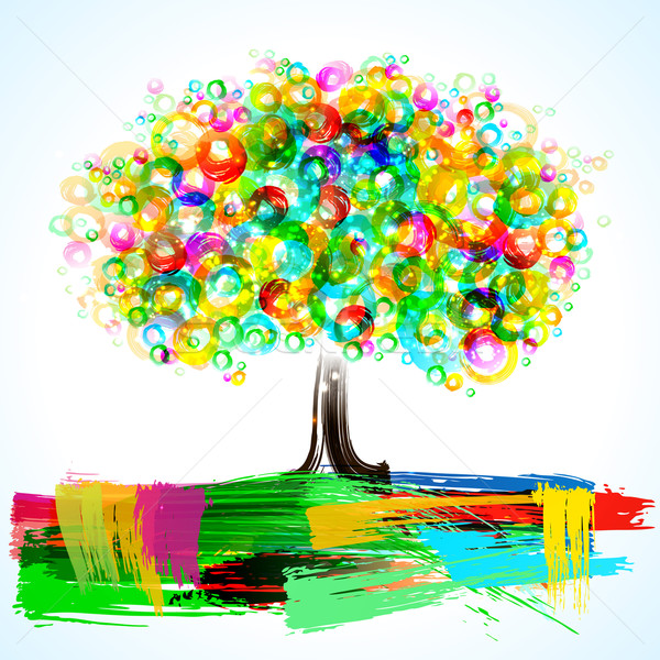 Abstract Painterly Tree  Stock photo © CarpathianPrince