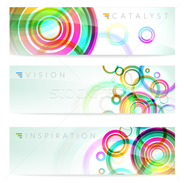 Ingesteld drie banners stijlvol abstract illustratie Stockfoto © CarpathianPrince