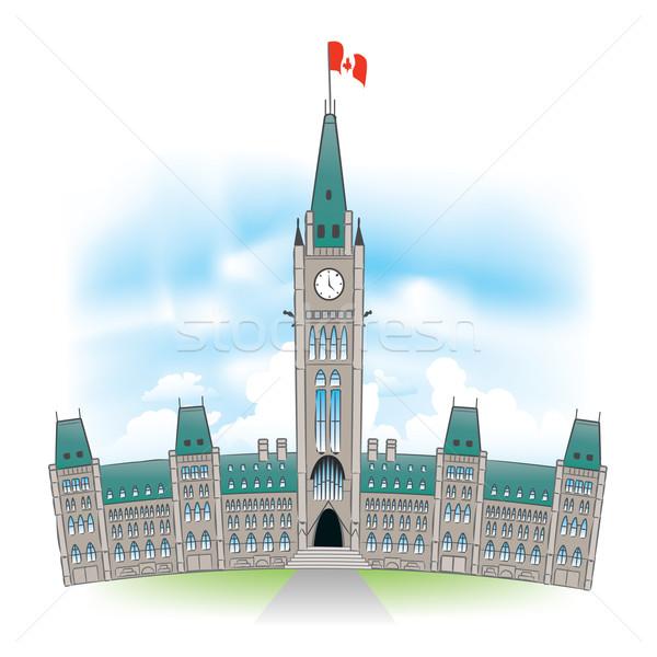 議会 建物 美しい 肖像 オタワ カナダ ストックフォト © CarpathianPrince