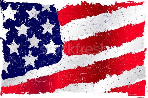 USA grunge flag Stock photo © CarpathianPrince