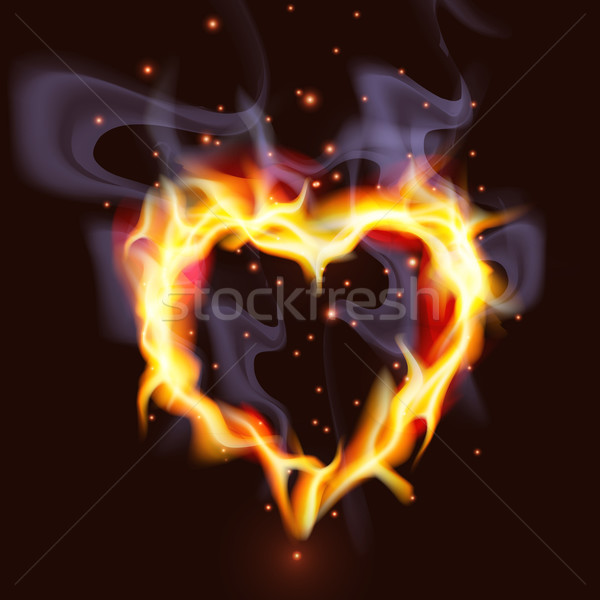 Fiery Heart Stock photo © CarpathianPrince