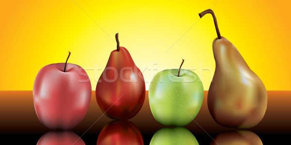pears and apples still life Stock photo © CarpathianPrince