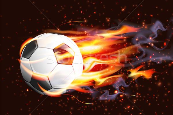 サッカーボール 火災 サッカー スポーツ デザイン サッカー ストックフォト © CarpathianPrince