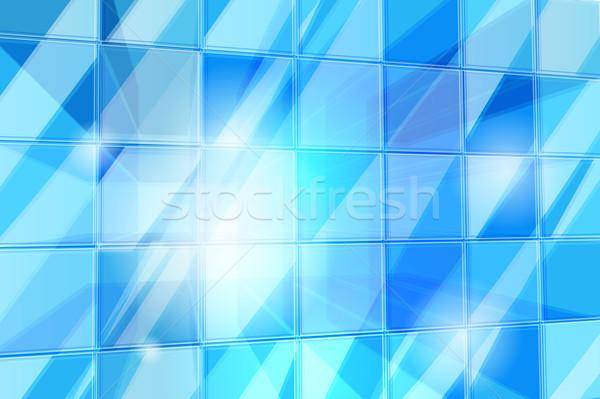 抽象的な キューブ パターン 透明な 光 ストックフォト © CarpathianPrince