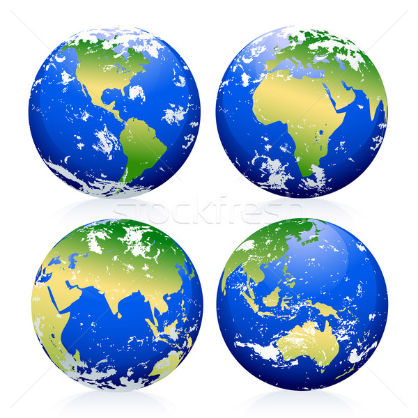 Blue Earth Marbles Stock photo © CarpathianPrince