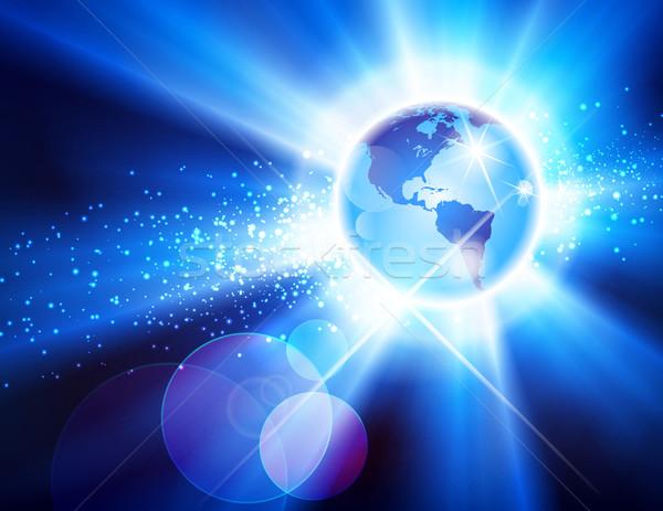 The Americas Globe Burst Stock photo © CarpathianPrince