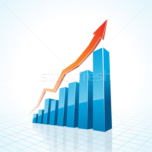 3d business growth bar graph  Stock photo © CarpathianPrince
