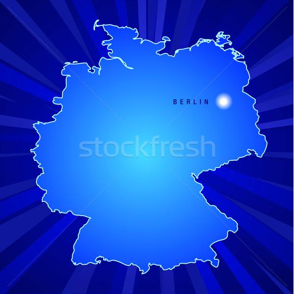 Map Of Germany Stock photo © CarpathianPrince