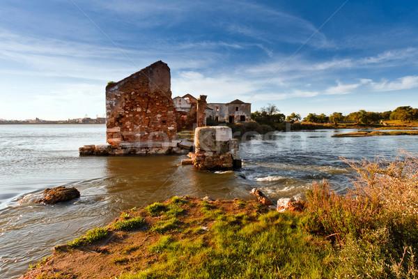 руин старые воды мельница реке один Сток-фото © Carpeira10