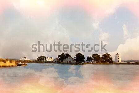 冷たい カラフル 日没 水 自然 背景 ストックフォト © Carpeira10