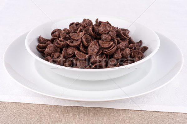 Chocolate cereais prato cereal comida Foto stock © Carpeira10
