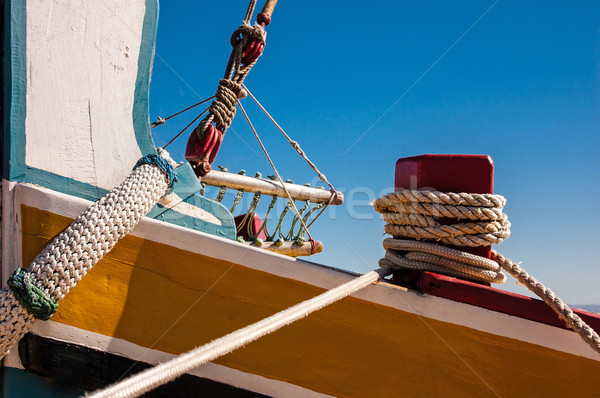 Traditional boat of the Tagus river Stock photo © Carpeira10