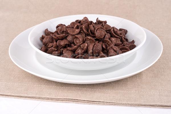 Chocolate cereals. Stock photo © Carpeira10