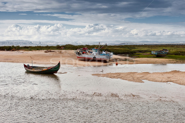 Bankalar nehir görmek Stok fotoğraf © Carpeira10