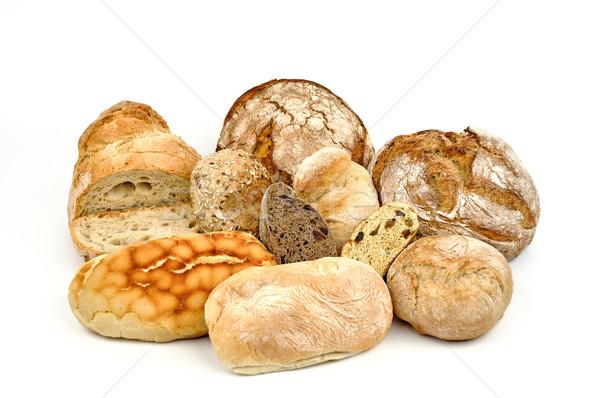 Yalıtılmış beyaz ekmek yemek diyet Stok fotoğraf © Carpeira10