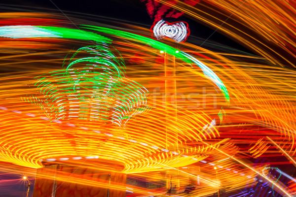 Noite longo tempo exposição luz laranja Foto stock © castenoid