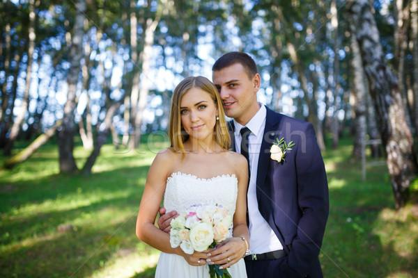 невеста жених свадьба день женщину Сток-фото © castenoid