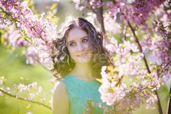 красивой цветы портрет магнолия Сток-фото © castenoid