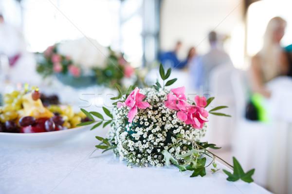 декоративный букет свадьба банкет день цветы Сток-фото © castenoid