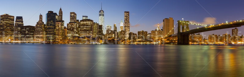 New York City Manhattan Skyline panorama pont bureau Photo stock © Catuncia