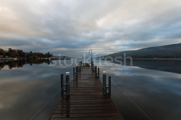 Lake George and the Adirondack Mountains in New York at sunrise Stock photo © Catuncia