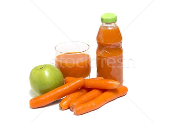 Foto stock: Maçãs · vidro · branco · comida · fruto