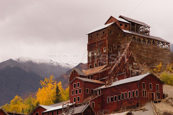 Concentration moulin Alaska sauvage automne élevé Photo stock © cboswell