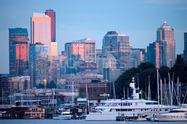 Stockfoto: Luxe · boten · meer · unie · Seattle · centrum