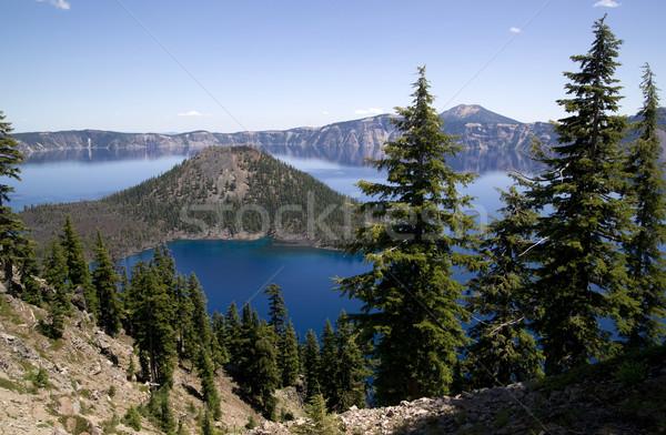 кратер озеро Орегон север Америки небе Сток-фото © cboswell