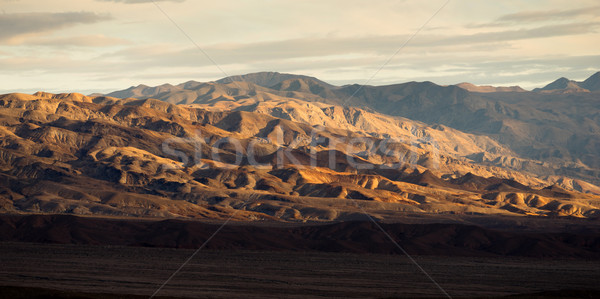 Death Valley Badlands Panoramic View Sunset Stock photo © cboswell