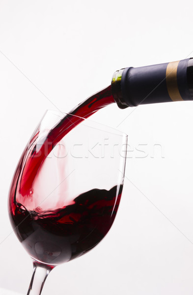 Red Burgundy Wine Drink Filling Stemmed Glass Alcohol Liquid Ref Stock photo © cboswell