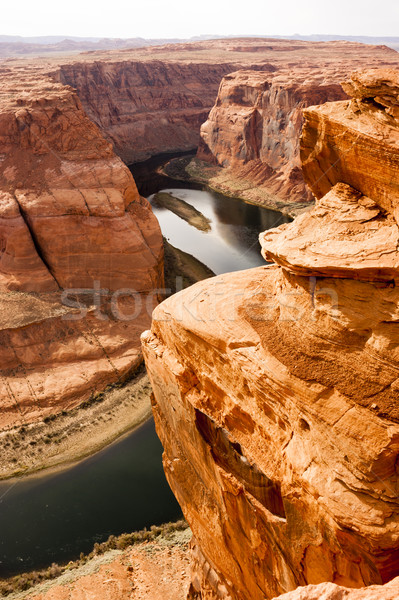 Derin kanyon Colorado nehir çöl güneybatı Stok fotoğraf © cboswell