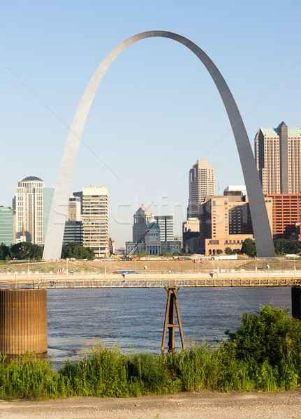 St Louis Missouri Downtown City Skline Arch Gateway West Stock photo © cboswell