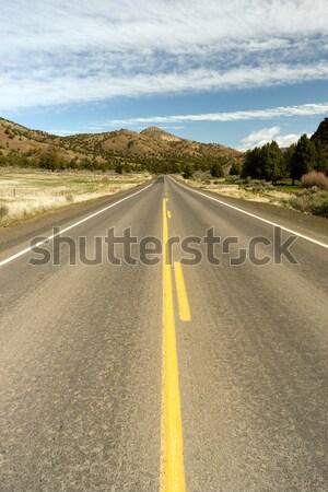 Foto stock: Oregón · ruta · 26 · carretera · alto · desierto