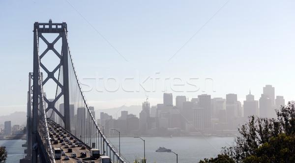 Híd csúcsforgalom forgalom San Francisco közlekedés sietség Stock fotó © cboswell