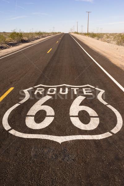 Zdjęcia stock: Wiejski · route · 66 · dwa · historyczny · autostrady