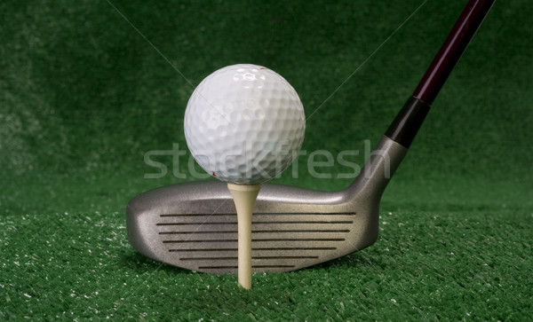 Driver Sitting in Front of Teed Up Golf Ball Stock photo © cboswell