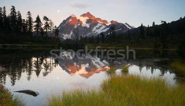 Mount Mt. Shuskan High Peak Picture Lake North Cascades Stock photo © cboswell