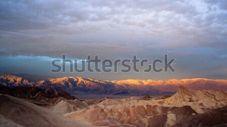 Sunrise montagne gamme mort vallée nuage Photo stock © cboswell