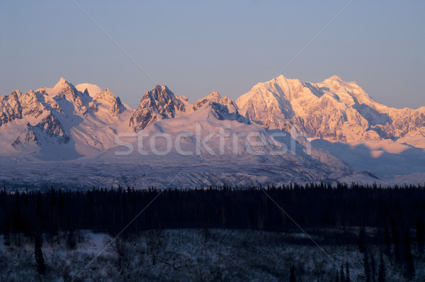 Ridges Peaks Mount McKinley Denali National Park Alaska United S Stock photo © cboswell