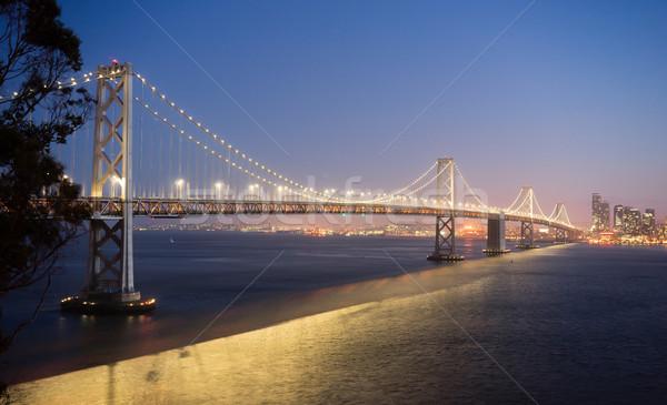 Bay Bridge Crossing San Francisco Skyline Pacific West Coast Stock photo © cboswell