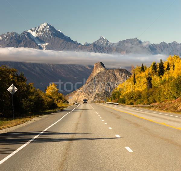 грузовика Осенний сезон открытых дороги автомобиль камеры Сток-фото © cboswell