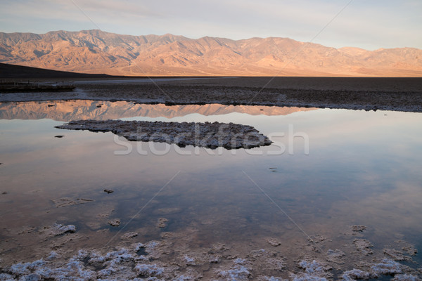 Badwater Basin Panamint Range Sunrise Death Valley National Park Stock photo © cboswell
