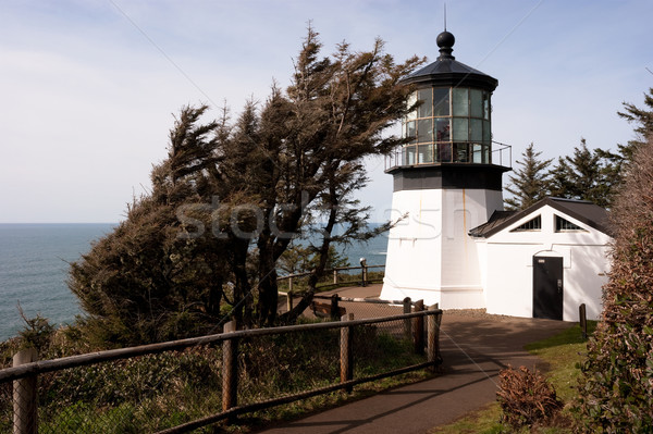 Cape Mears Lighthouse Pacific West Coast Oregon United States Stock photo © cboswell