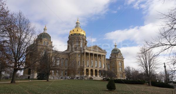 Des Moines Iowa Capital Building Government Dome Architecture Stock photo © cboswell