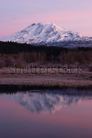 Mount Adams and Takhlakh Lake Stock photo © cboswell